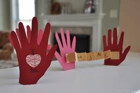 valentines cards for kids diy handprint i you this much card kids craft