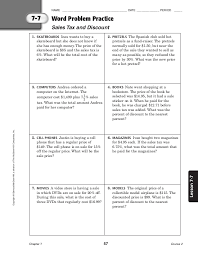 course 2 word problem book