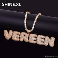 jewelry necklace letters images Hip hop custom name combination bubble letter pendant necklace jpg
