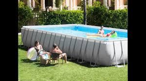 Intex Pools 18x52 Intex 32ft X 16ft X 52in Ultra Frame Rectangular Pool Set With
