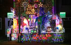 pictures of christmas lights on houses the families pulling out all the stops to turn their homes into
