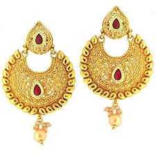 gold ear ring image gold earrings designer gold earring wholesale trader from new delhi