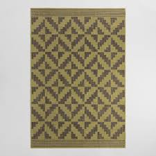 Yellow And Gray Outdoor Rug 4 9 X6 9 Green And Gray Geo Flatweave Indoor Outdoor Rug World