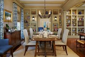 imposant dining room designs with shelves on the walls