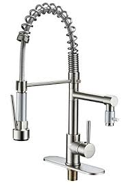kitchen sink faucet sprayer eyekepper brushed nickel kitchen sink faucet pull out sprayer