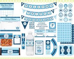 a new prince baby shower royal prince baby shower essentials printable party kit