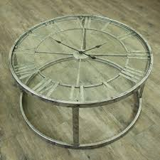 Clock Coffee Table by Large Round Silver Skeleton Clock Table Furniture Windsor