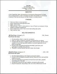 real estate resume templates sle realtor resume foodcity me
