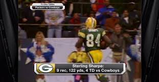 green bay packers on tbt sterling sharpe catches 4 td