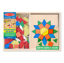 buy melissa u0026 doug 29 pattern blocks and boards online at low