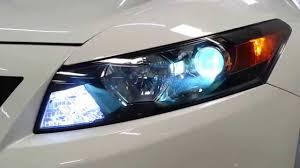 Honda Accord Lights 2010 Honda Accord Coupe Full Led U0026 Hid Headlights Youtube