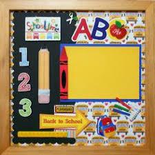 school memories album kindergarten graduation premade memory album page gallery wood