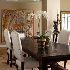 mission style decor dining room craftsman with area rug chandelier