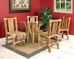 Bamboo Dining Table Set Breathtaking Bamboo Dining Room Chairs Furniture Design Image