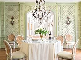Wallpaper Designs For Dining Room How To Skirt Your Dining Room Table Southern Living