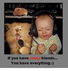 Crazy Friends Meme - if you have crazy friends you have everything crazy meme on