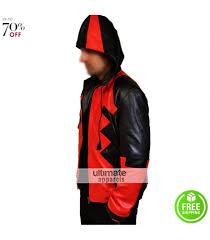 halloween jacket deadpool halloween costume hooded athletic jacket