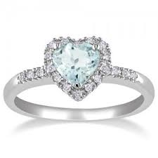 silver diamond rings aquamarine rings in sterling silver diamond heart affordable