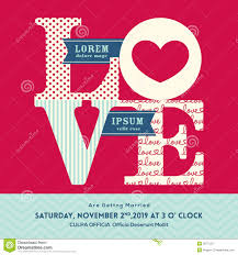 Wedding Invitation Card Template Word Love Word Wedding Invitation Stock Vector Image 39775377