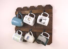 6 cup mug holder country kitchen farmhouse decor