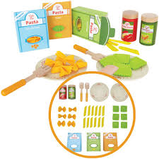 spielküche zubehör holz hape pasta set aus holz filz nudeln spielküche essen spielzeug