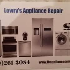 Appliance Business Cards Lowry U0027s Appliance U0026 Air Conditioning Service Appliances U0026 Repair