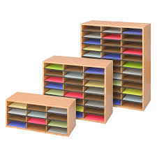 School Desk Organizers by Wood Corrugated Literature Organizer 24 Safco Products