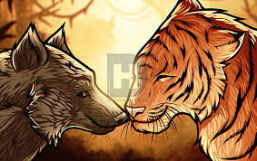 how to draw a wolf and tiger by drawing guide by