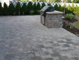 how to install paver patio custom multi sized brick paver patio with custom grill