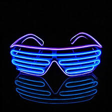 party sunglasses with lights amazon com aquat shutter el wire neon rave glasses flashing led
