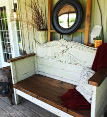 Diy Repurposed Furniture Ideas Antique Headboard Bench Wow Vin U0027yet Etc Xjunkersunite