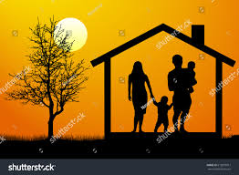 House Silhouette by Family House Silhouette Vector Stock Vector 612879917 Shutterstock