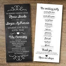 order wedding programs online reserved for sarahappleberry wedding program chalkboard wedding