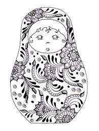 holly hobbie coloring pages free printable colouring page russian dolls source