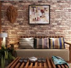 Wallpaper Livingroom by Faux Brick Wallpaper Living Room Wallpaper Room Inspiration