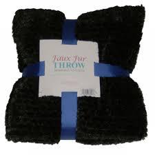 Faux Fur Electric Throw Morgan Home Super Soft Coal Black Faux Fur Throw Blanket With