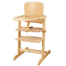 chaise bebe en bois chaise haute évolutive family naturel geuther pour enfant dès 6