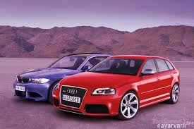 audi a3 vs bmw 1 series comparison preview renderings bmw 1 series m coupe vs audi rs3