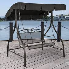 Wrought Iron Patio Furniture by Mainstays Jefferson Wrought Iron Outdoor Swing Seats 2 Walmart Com