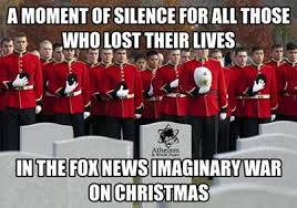 War On Christmas Meme - atheists and christians heal the wounded and bury the dead after the