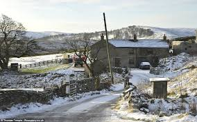 uk weather sees snow in scotland and the and is due to arrive