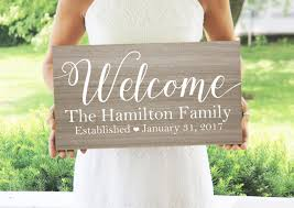 welcome family name sign welcome sign rustic home decor cottage