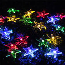 zitrades outdoor solar string lights 20 colorful rgb star for