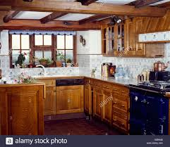 white kitchen cabinets with blue tiles country kitchen with wooden cupboards and blue and white