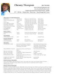 Shidduch Resume Theatre Acting Sample Resume 11 Special Skills To Put On A For