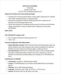 Entry Level It Resume Sample by Entry Level Help Desk Resume Template Billybullock Us