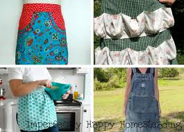 15 easy to sew or no sew free apron patterns for homestead chores