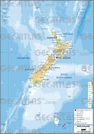Map New Zealand Geoatlas Countries New Zealand Map City Illustrator Fully