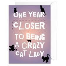 crazy cat lady funny birthday card all ways design invitations