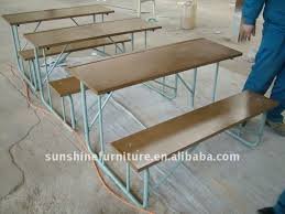 classroom bench table and bench seat school desk and seat